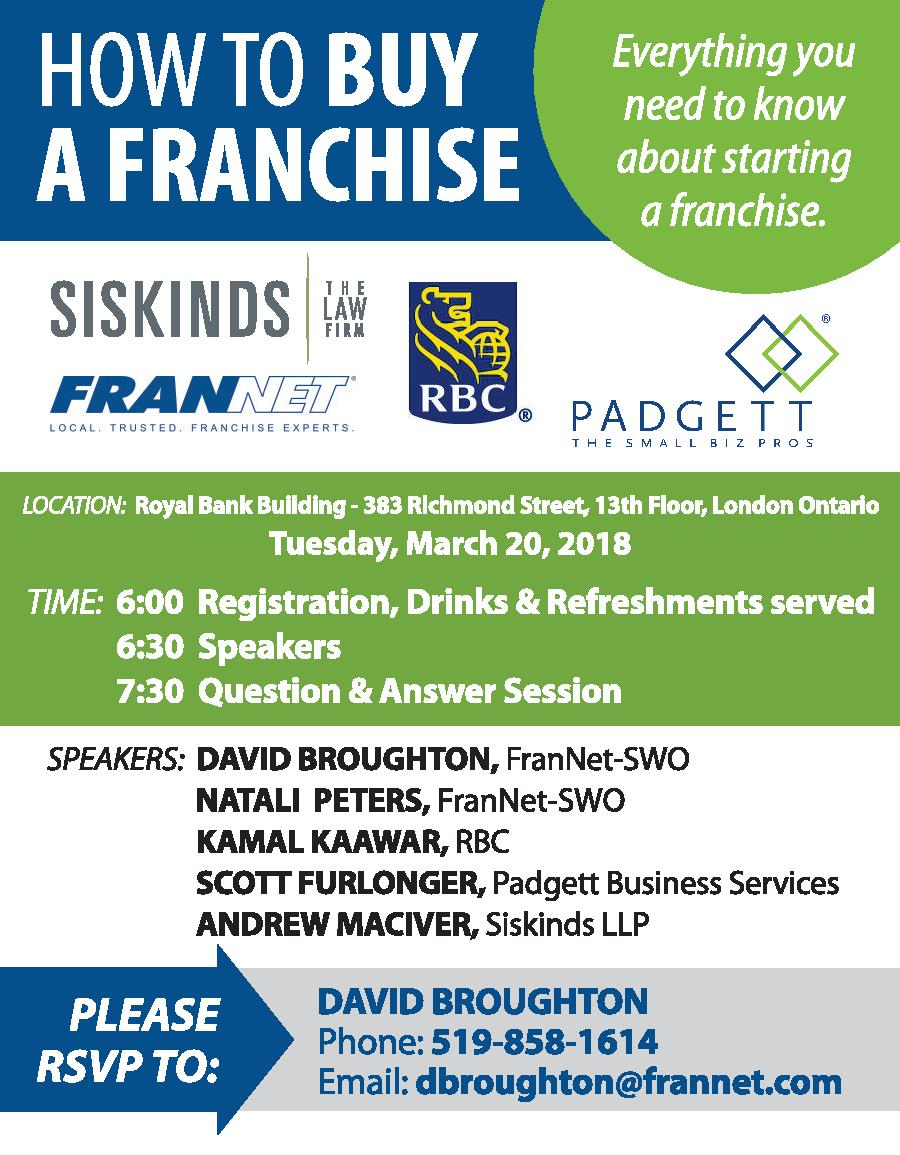 That Will Cover Everything You Need To Know About Purchasing A Franchise Please See Below For De S About This Event And Rsvping To Attend